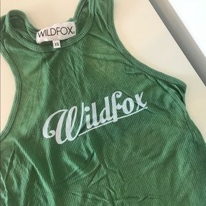 Wildfox green ribbed tank